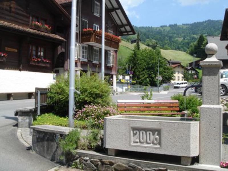 Brunnen im Dorf Illgau